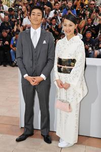 Yusuke Iseya and Yoshino Kimura at the photocall of Palais des Festivals during the 61st International Cannes Film Festival.