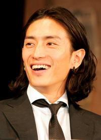 Yusuke Iseya at the promotion of