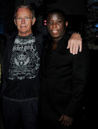 Lance Henriksen and Mpho Koaho at the after party of California premiere of