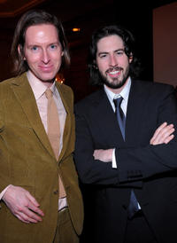 Wes Anderson and director Jason Reitman at the 35th Annual Los Angeles Film Critics Association Awards in California.