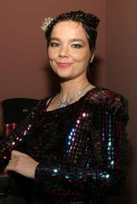 Bjork at the Index Magazine's private party.