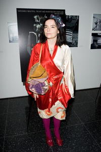 Bjork at the premiere of
