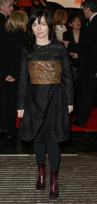 Bjork at the British Academy Film Awards.