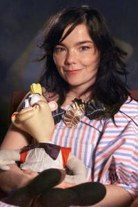 Bjork at an interview for Getmusic in New York City.