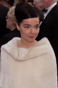 Bjork at the 58th Annual Golden Globe Awards.
