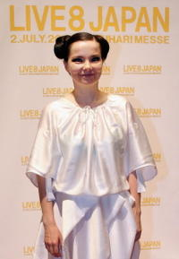 Bjork at the press conference during the