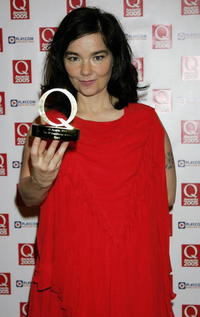 Bjork at the Q Awards, the annual magazine's music awards.