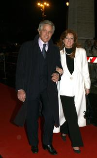 Giuliano Gemma and his wife at the Italian Film Academy's 50th David di Donatello Awards Ceremony.