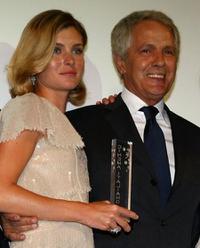 Vittoria Puccini and Giuliano Gemma at the Kino Diamanti al Cinema Award during the 65th Venice Film Festival.