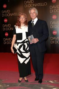 Giuliano Gemma and his wife at the David di Donatello 2007 Italian Awards.