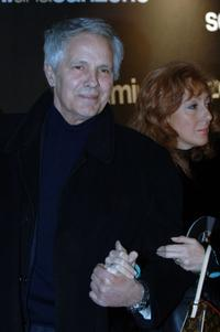 Giuliano Gemma and his wife at the Italian premiere of the movie