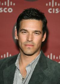 Eddie Cibrian at the Fox Fall Eco-Casino Party.
