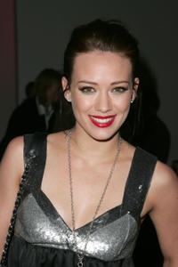 Hilary Duff at the Child Magazine Fall 2007 fashion show during Mercedes-Benz fashion Week in New York City.