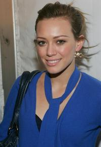 Hilary Duff at the Vera Wang Fall 2006 fashion show at the