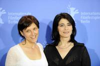 Hiam Abbass and Rona Lipaz-Michael at the photocall of