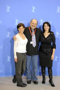 Rona Lipaz-Michael, director Eran Riklis and Hiam Abbass at the photocall of