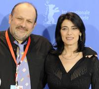 Director Eran Riklis and Hiam Abbass at the photocall of