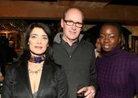 Hiam Abbass, Richard Jenkins and Danai Gurira at the dinner of