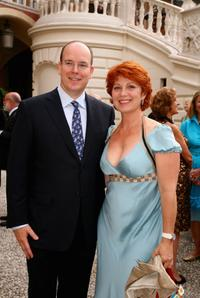 Prince Albert II and Veronique Genest at the 2007 Monte Carlo Television Festival.