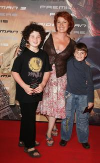 Veronique Genest and her children at the premiere of