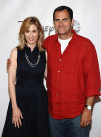 Helen Slater and Andy Buckley at the TCA 2011 Summer Press Tour in California.