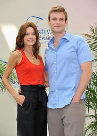 Gina Holden and Eric Johnson at the photocall to promote the television series