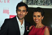 Rahul Khanna and Lisa Ray at the promotional event on breast cancer awareness in Mumbai.