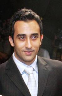Rahul Khanna at the opening ceremony of Dubai's first International Film Festival.