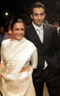 Director Deepa Mehta and Rahul Khanna at the opening ceremony of Dubai's First International Film Festival.