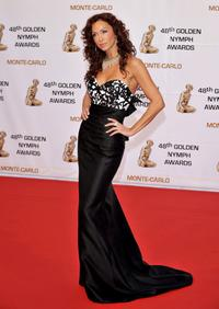 Sofia Milos at the Golden Nymph awards ceremony at 2008 Monte Carlo Television Festival.