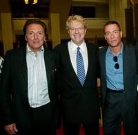 Armand Assante, Jerry Springer and Jean-Claude Van Damme at the photocall and screening of