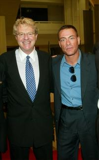 Jerry Springer and Jean-Claude Van Damme at the photocall and screening of