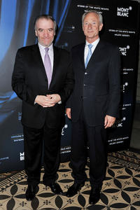 Valery Gergiev and CEO of Montblanc International Lutz Bethge at the Montblanc New Voices Award 2011 in Russia.