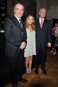 Valery Gergiev, Elsa Pataky and Lutz Bethge at the Montblanc New Voices Award Presentation and Press Conference.