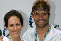 Annabeth Gish and David Chokachi at the Natural Resource Defense Council's Day of Discovery in California.