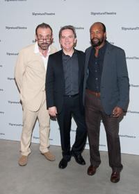 Ritchie Coster, Athol Fugard and Leon Addison Brown at the Broadway opening night party of