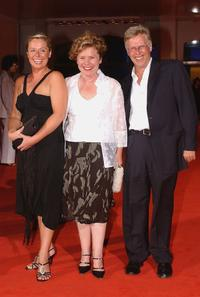 Heather Craney, Imelda Staunton and Phil Davis at the premiere of