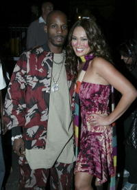DMX and Tia Carrere at the 1st Annual Video Game Awards.