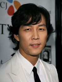 Lee Jeong-jae at the California premiere of