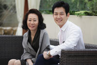 Youn Yuh-Jung and Lee Jeong-jae at the portrait session of
