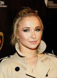 Hayden Panettiere at the grand opening of Lamborghini Calabasas in Calabasas, California.