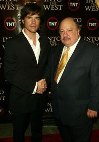 Matthew Settle and William Mastrosimone at the premiere of