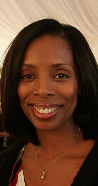 Tasha Smith at the InStyle Golden Globe Suite.