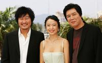 Song Kang-ho, Do-yeon Jeon and Chang-dong Lee at the photocall of