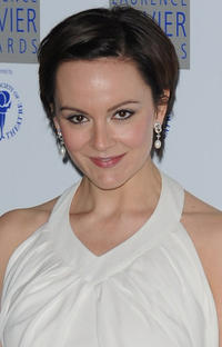 Rachael Stirling at the Laurence Olivier Awards in London.
