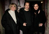 Dame Diana Rigg, Ronan Vibert and Rachael Stirling at the after party of