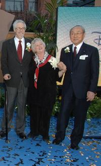 Wayne Allwine, Russi Taylor and Toshio Kagami at the 2008 Disney Legends Ceremony.