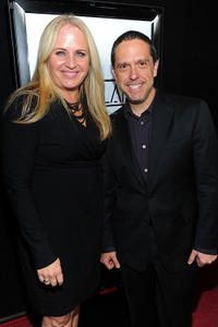 Darla K. Anderson and director Lee Unkrich at the 36th Annual Los Angeles Film Critics Association Awards.