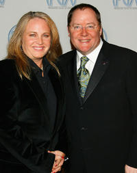 Darla K. Anderson and director John Lasseter at the 18th Annual Producer Guild Awards.