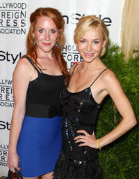 Paige Howard and Mika Boorem at the In Style HFPA party during the 35th Toronto International Film Festival in Canada.